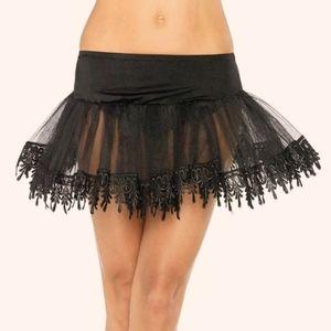 Leg Avenue Tear Drop Petticoat Skirt
